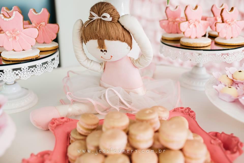 Plush ballerina from a Pink Ballerina Birthday Party on Kara's Party Ideas | KarasPartyIdeas.com (39)