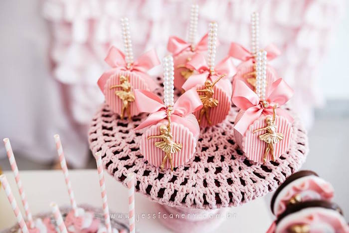 Ballerina pops from a Pink Ballerina Birthday Party on Kara's Party Ideas | KarasPartyIdeas.com (19)