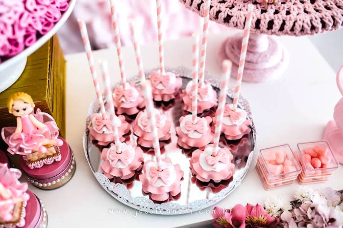 Tutu cake pops from a Pink Ballerina Birthday Party on Kara's Party Ideas | KarasPartyIdeas.com (18)