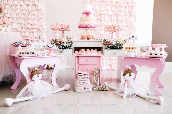 Pink Ballerina Birthday Party on Kara's Party Ideas | KarasPartyIdeas.com (16)