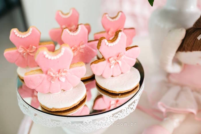 Ballerina cookies from a Pink Ballerina Birthday Party on Kara's Party Ideas | KarasPartyIdeas.com (13)