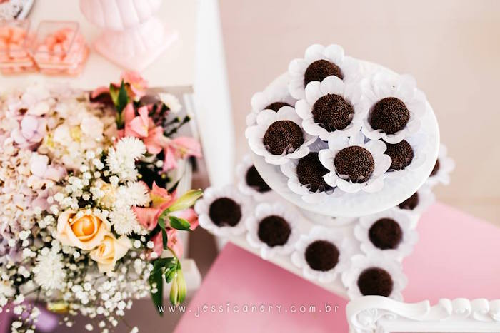 Brigadeiros from a Pink Ballerina Birthday Party on Kara's Party Ideas | KarasPartyIdeas.com (10)