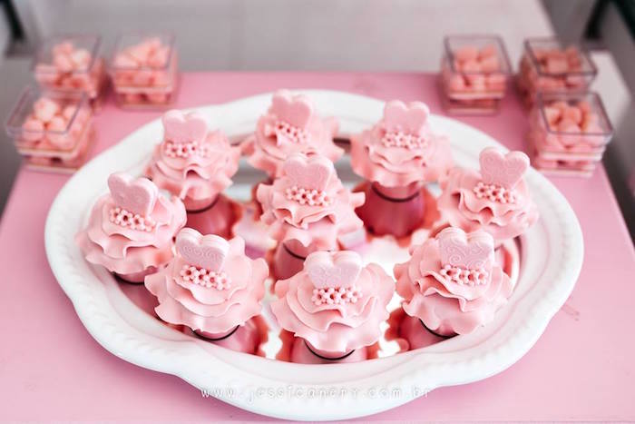 Ballerina cupcakes from a Pink Ballerina Birthday Party on Kara's Party Ideas | KarasPartyIdeas.com (8)