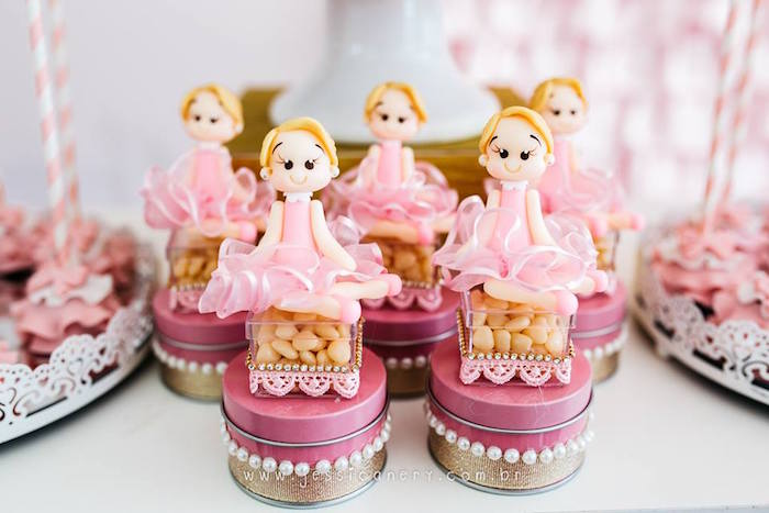 Ballerina favors from a Pink Ballerina Birthday Party on Kara's Party Ideas | KarasPartyIdeas.com (32)