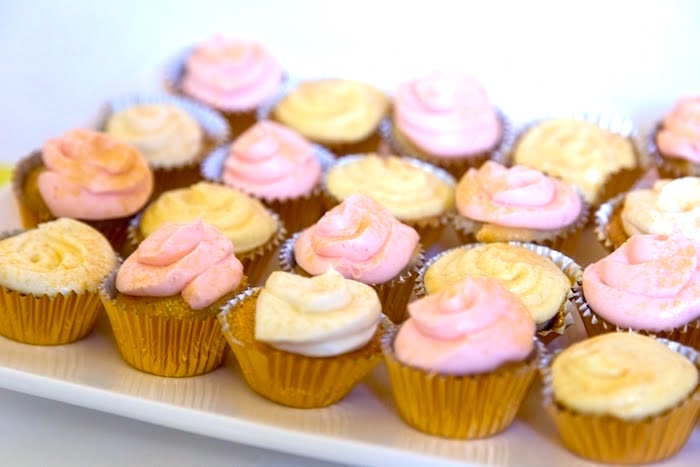 Cupcakes from a Pretty in Pink Bat Mitzvah Birthday Party on Kara's Party Ideas | KarasPartyIdeas.com (12)
