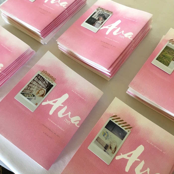 Photo book keepsakes from a Pretty in Pink Bat Mitzvah Birthday Party on Kara's Party Ideas | KarasPartyIdeas.com (7)