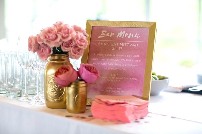 Karas Party Ideas Pretty In Pink Bat Mitzvah Birthday Party