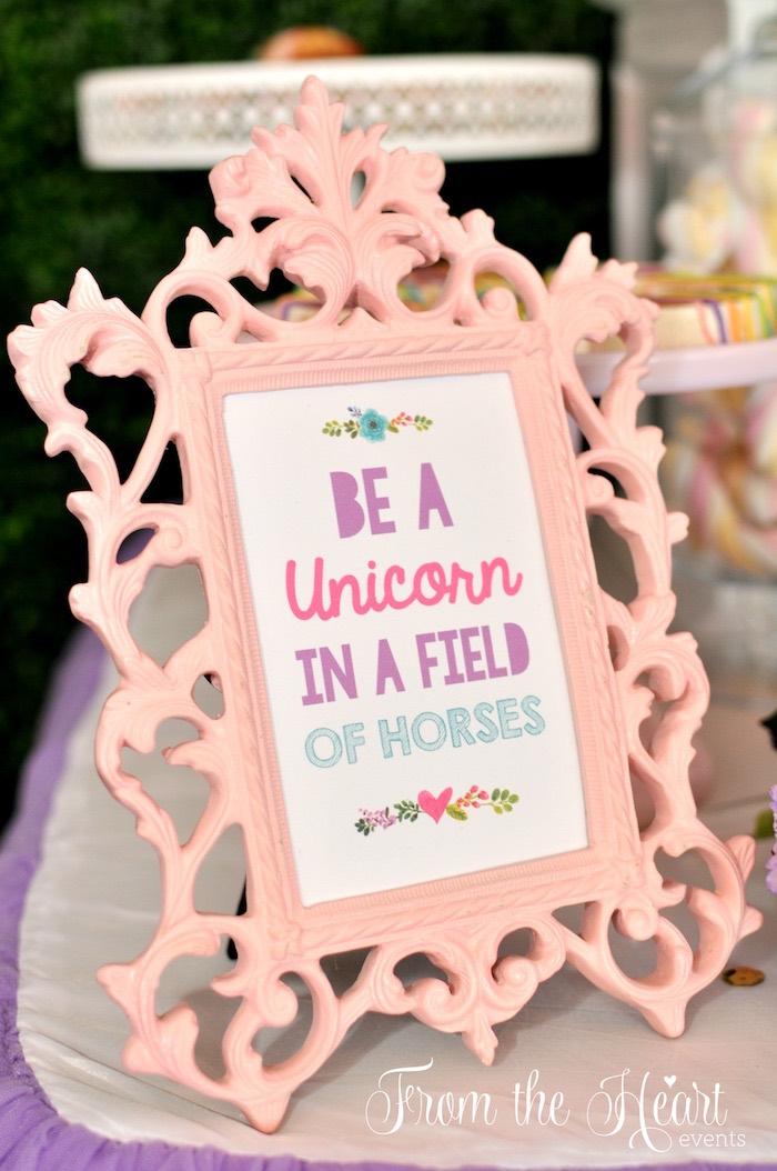 Rainbow party signage from a Vibrant Unicorn Birthday Party on Kara's Party Ideas | KarasPartyIdeas.com (11)