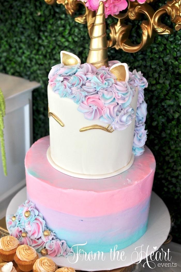 Tier Kids Birthday Cake Fake