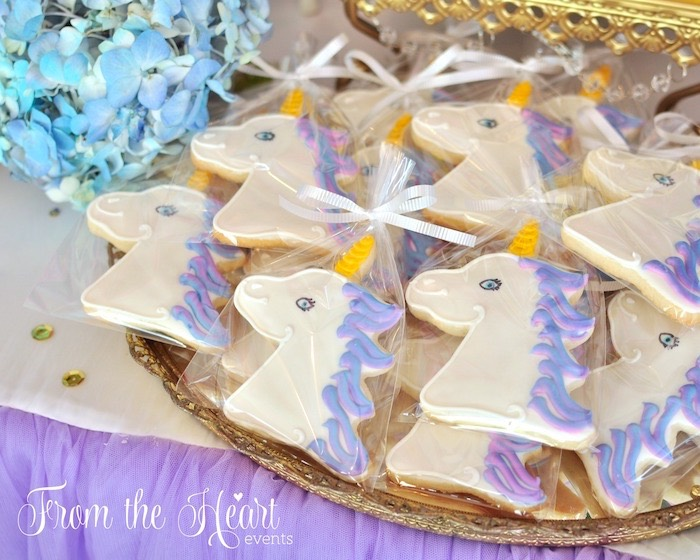 Unicorn cookies from a Vibrant Unicorn Birthday Party on Kara's Party Ideas | KarasPartyIdeas.com (5)