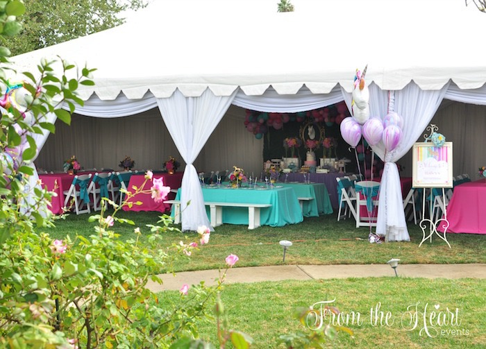 Tentscape from a Vibrant Unicorn Birthday Party on Kara's Party Ideas | KarasPartyIdeas.com (21)