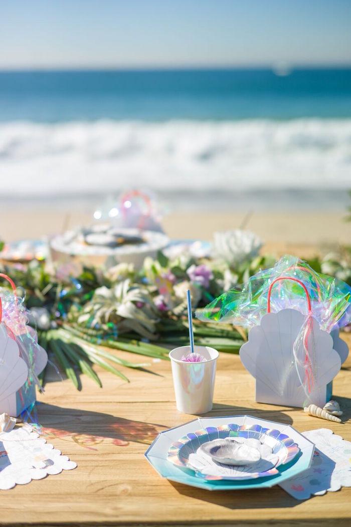 Seaside Mermaid Party on Kara's Party Ideas | KarasPartyIdeas.com (16)