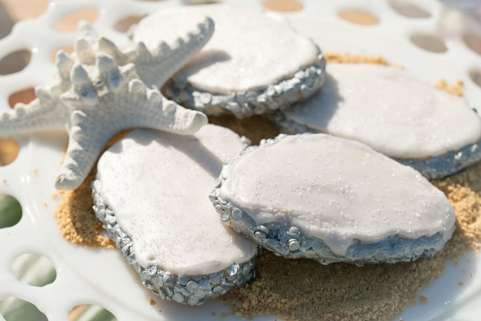 Cookies from a Seaside Mermaid Party on Kara's Party Ideas | KarasPartyIdeas.com (9)