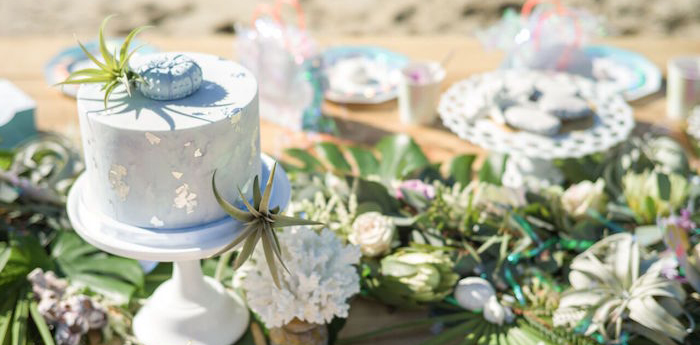 Seaside Mermaid Party on Kara's Party Ideas | KarasPartyIdeas.com (4)
