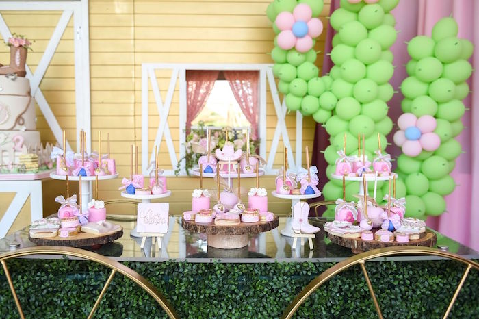 Dessert table from a Shabby Chic Cowgirl Birthday Party on Kara's Party Ideas | KarasPartyIdeas.com (22)