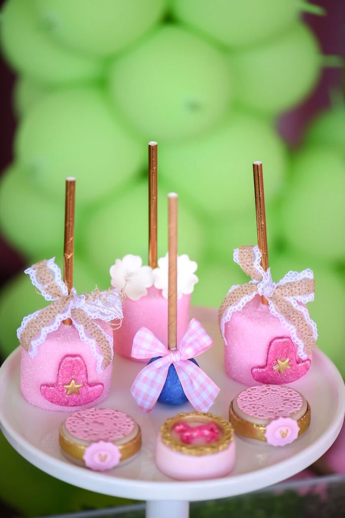 Shabby chic sweets from a Shabby Chic Cowgirl Birthday Party on Kara's Party Ideas | KarasPartyIdeas.com (16)
