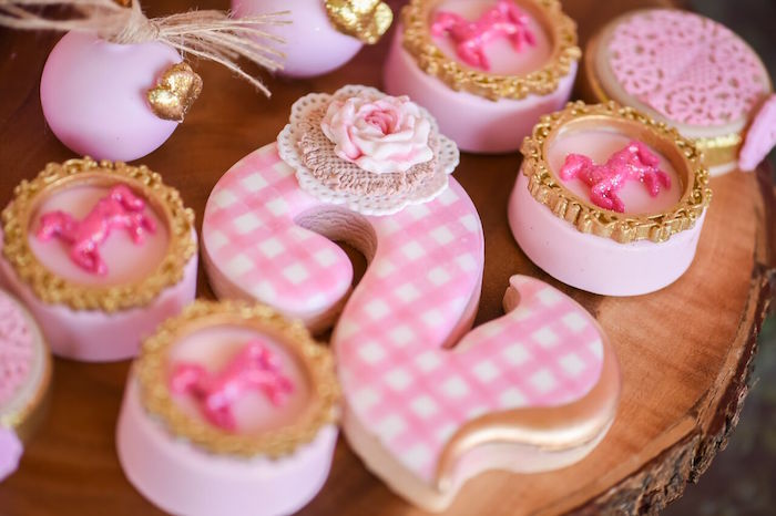 Sweets from a Shabby Chic Cowgirl Birthday Party on Kara's Party Ideas | KarasPartyIdeas.com (14)