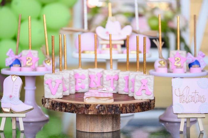 Sweets from a Shabby Chic Cowgirl Birthday Party on Kara's Party Ideas | KarasPartyIdeas.com (9)