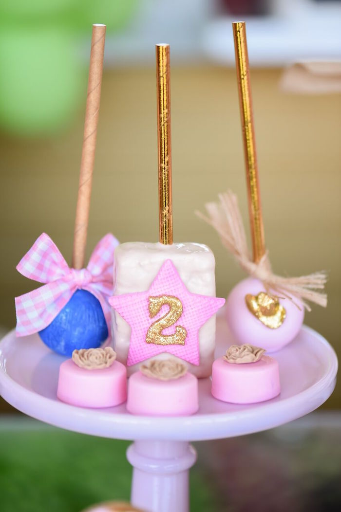 Sweets from a Shabby Chic Cowgirl Birthday Party on Kara's Party Ideas | KarasPartyIdeas.com (8)