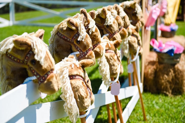 Stick horses from a Shabby Chic Cowgirl Birthday Party on Kara's Party Ideas | KarasPartyIdeas.com (41)