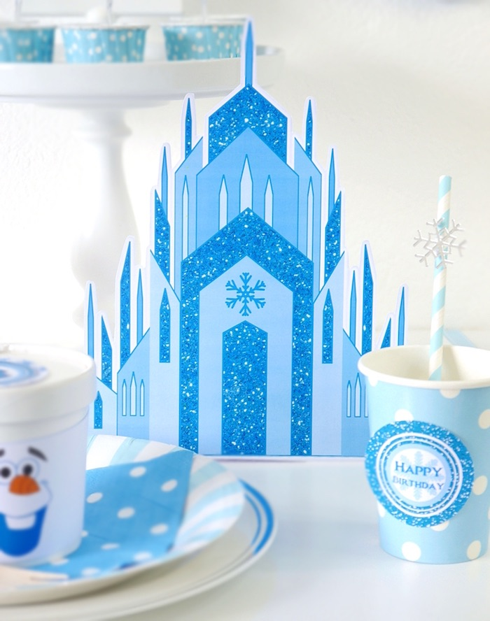 Castle from a Shimmering Frozen Birthday Party on Kara's Party Ideas | KarasPartyIdeas.com (15)