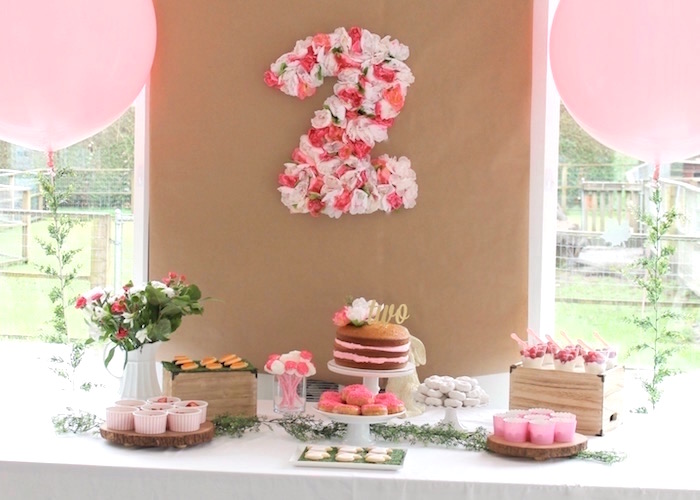 """Somebunny is Two"" Farm Birthday Party on Kara's Party Ideas 