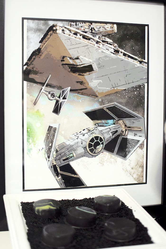 Framed image from a Star Wars Birthday Party on Kara's Party Ideas | KarasPartyIdeas.com (14)