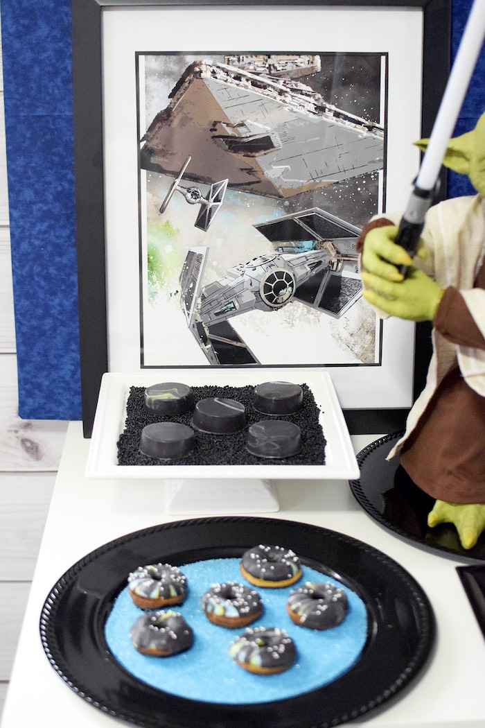 Sweet table details from a Star Wars Birthday Party on Kara's Party Ideas | KarasPartyIdeas.com (13)