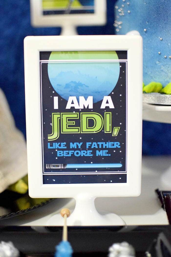 Party signage from a Mod Star Wars Birthday Party on Kara's Party Ideas   KarasPartyIdeas.com (9)
