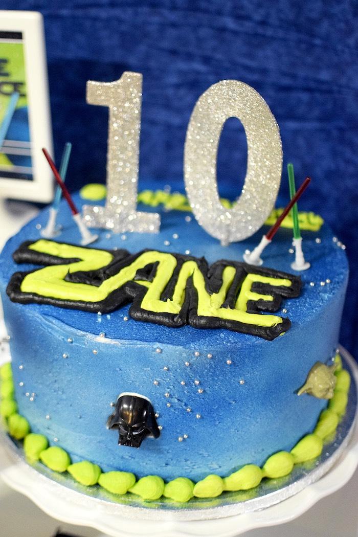 Cake from a Mod Star Wars Birthday Party on Kara's Party Ideas   KarasPartyIdeas.com (25)