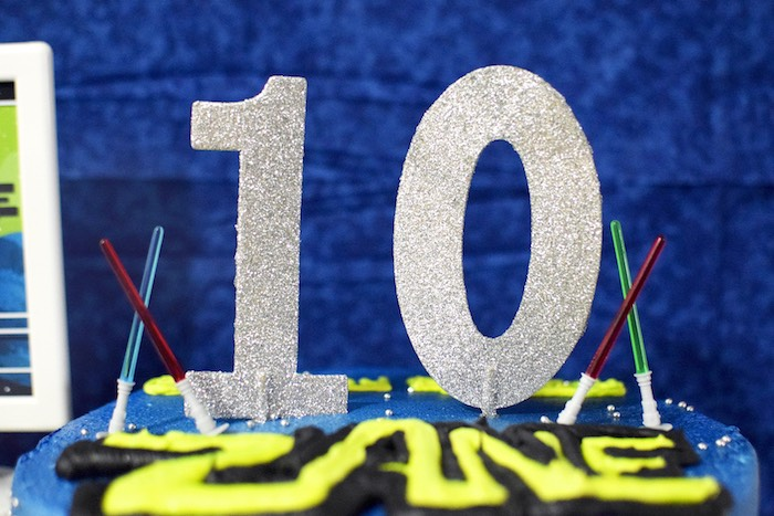 Cake topper from a Star Wars Birthday Party on Kara's Party Ideas   KarasPartyIdeas.com (22)