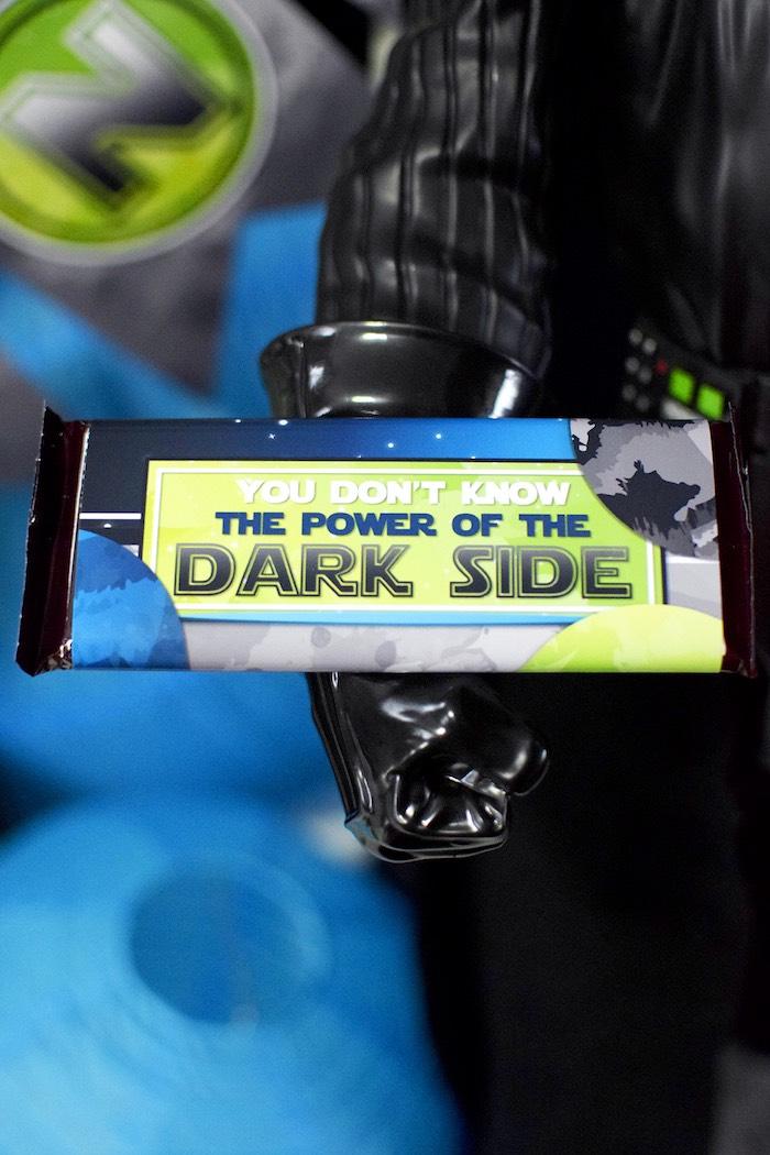 Custom Star Wars candy bar wrapper from a Mod Star Wars Birthday Party on Kara's Party Ideas | KarasPartyIdeas.com (21)