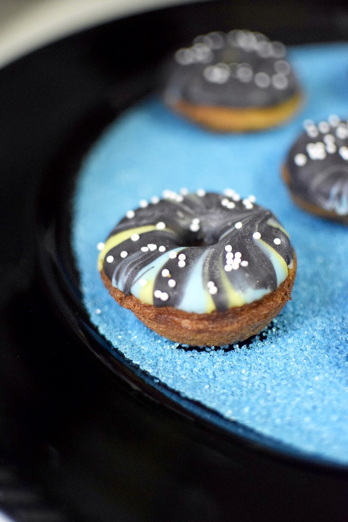 Mini doughnut from a Star Wars Birthday Party on Kara's Party Ideas | KarasPartyIdeas.com (18)
