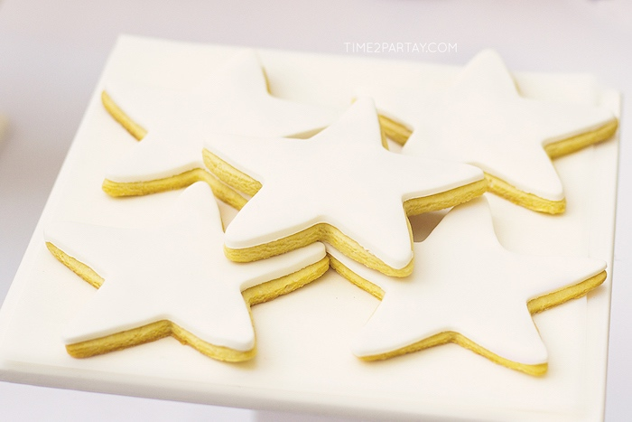 Star cookies from a Starry Unicorn Birthday Party on Kara's Party Ideas | KarasPartyIdeas.com (18)