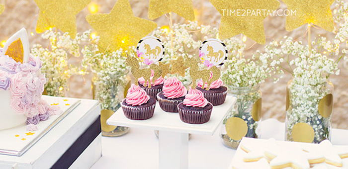Starry Unicorn Birthday Party on Kara's Party Ideas | KarasPartyIdeas.com (6)