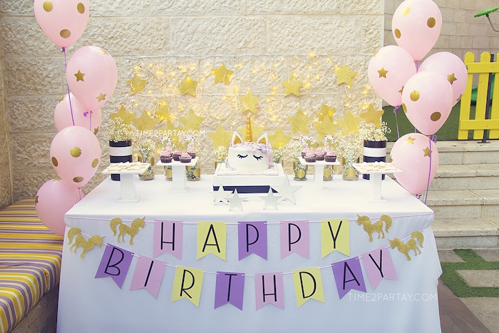 Starry Unicorn Birthday Party on Kara's Party Ideas | KarasPartyIdeas.com (30)