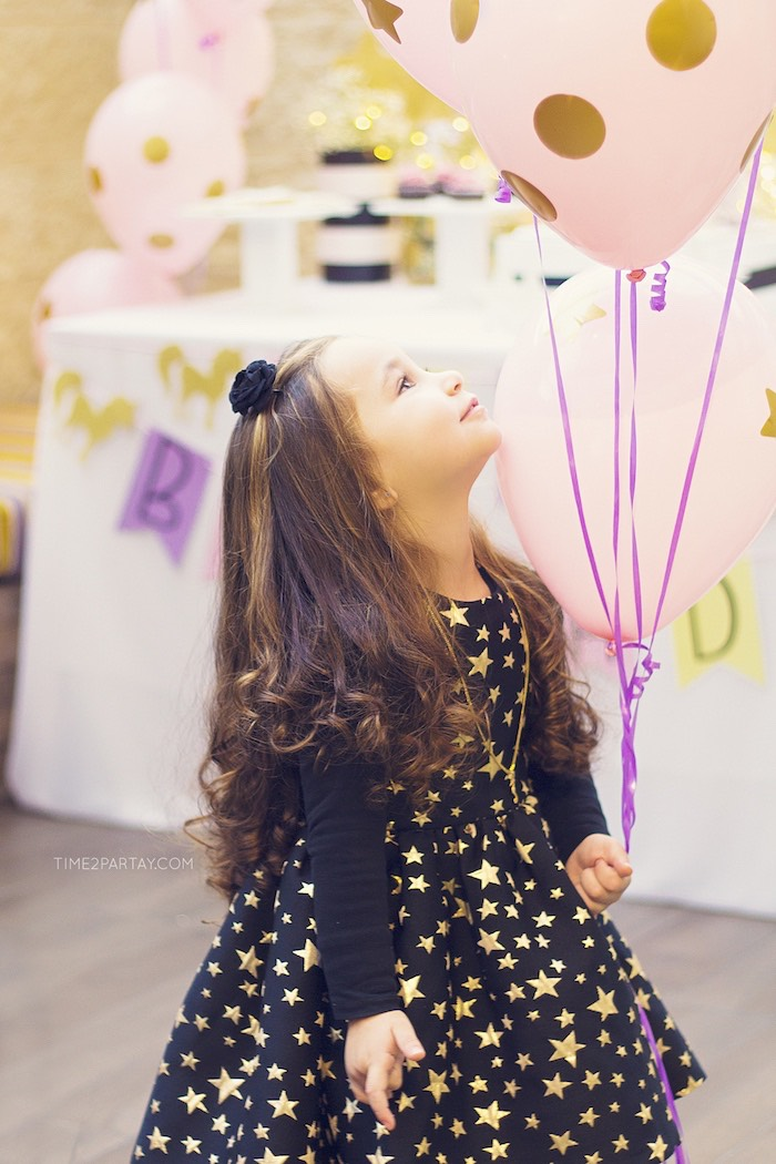 Shimmering star dress from a Starry Unicorn Birthday Party on Kara's Party Ideas | KarasPartyIdeas.com (26)