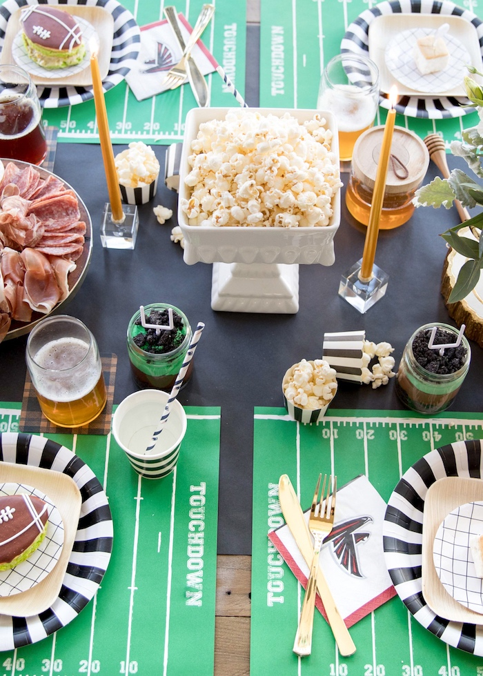 Party tabletop from a SuperBowl Sunyay Football Party on Kara's Party Ideas | KarasPartyIdeas.com (18)