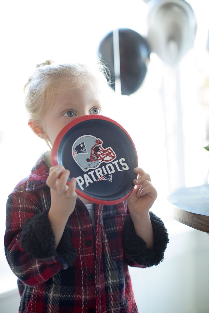 Team plates from a SuperBowl Sunyay Football Party on Kara's Party Ideas | KarasPartyIdeas.com (11)