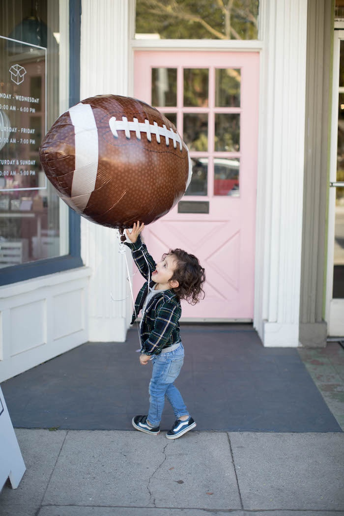 Mylar football balloon from a SuperBowl Sunyay Football Party on Kara's Party Ideas | KarasPartyIdeas.com (10)