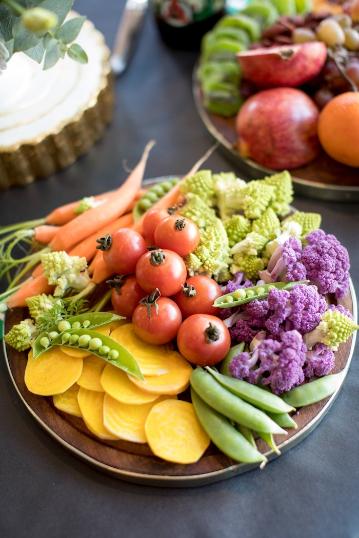 Vegetable plate from a SuperBowl Sunyay Football Party on Kara's Party Ideas | KarasPartyIdeas.com (27)