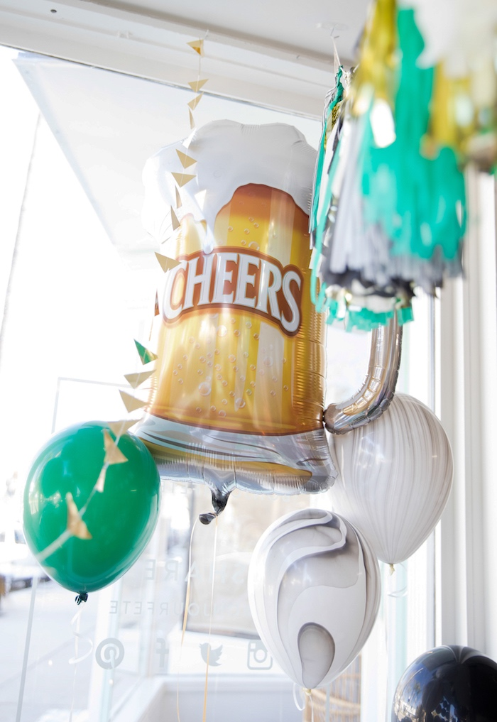Balloons from a SuperBowl Sunyay Football Party on Kara's Party Ideas | KarasPartyIdeas.com (20)