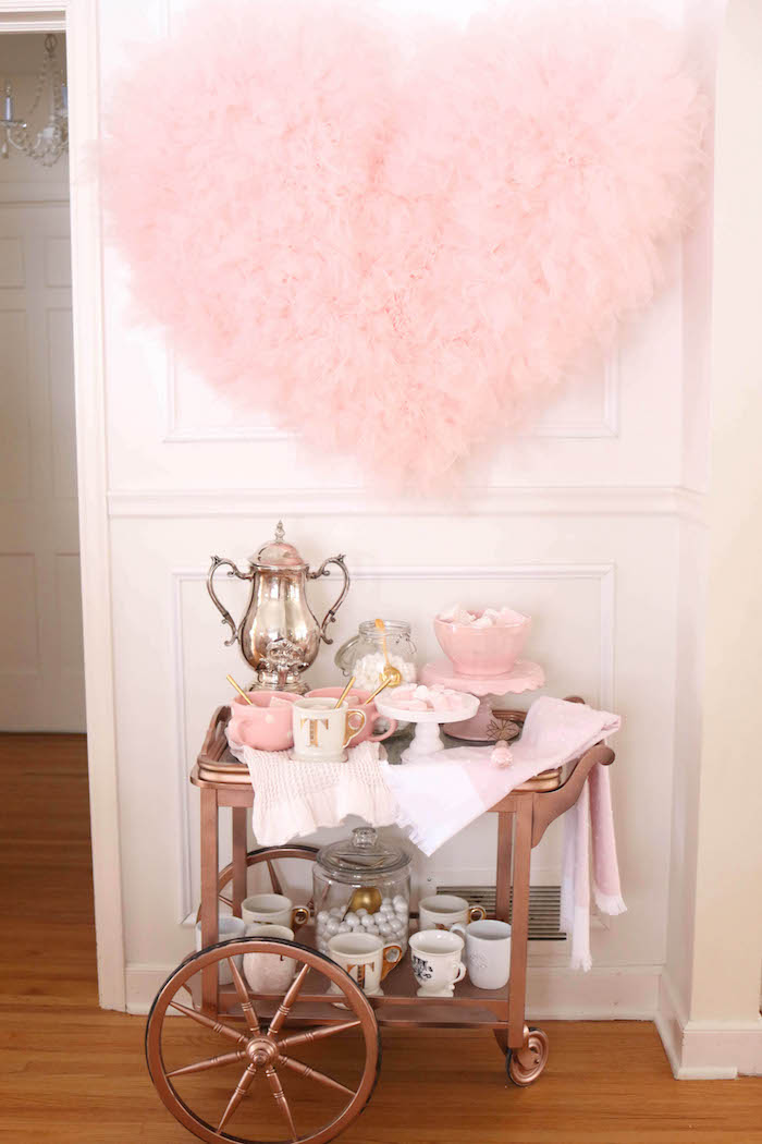 Kara\'s Party Ideas Sweet and Elegant Valentine\'s Day Party ...