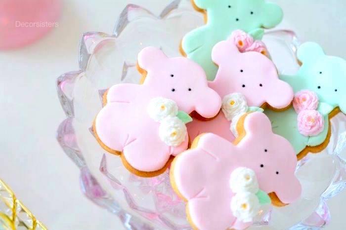 Tous Teddy Bear Cookies from a TOUS Teddy Bear Baby Shower on Kara's Party Ideas | KarasPartyIdeas.com (16)