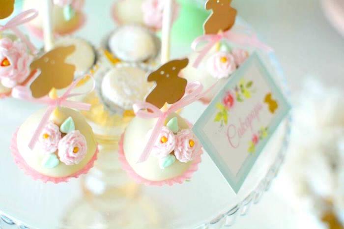 Cake pops from a TOUS Teddy Bear Baby Shower on Kara's Party Ideas | KarasPartyIdeas.com (15)