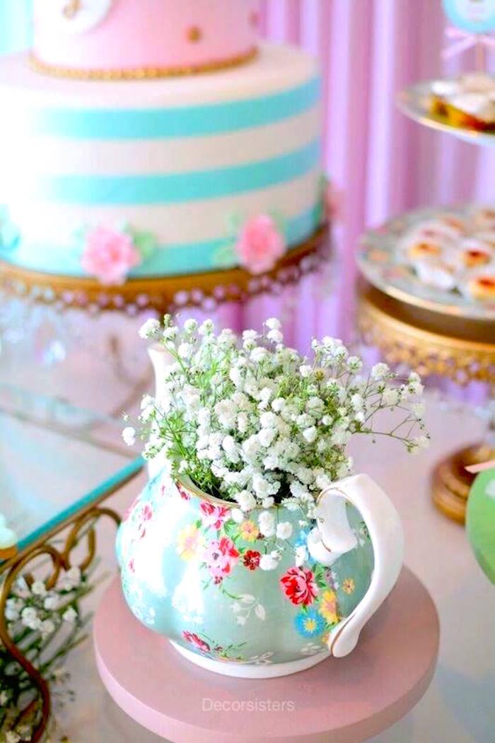 Flowers from a TOUS Teddy Bear Baby Shower on Kara's Party Ideas | KarasPartyIdeas.com (11)
