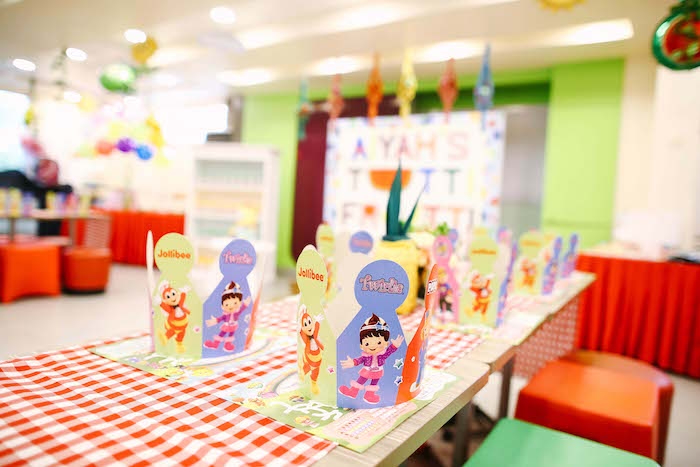 Kid table from a TWOtti Frutti Birthday Party on Kara's Party Ideas | KarasPartyIdeas.com (10)