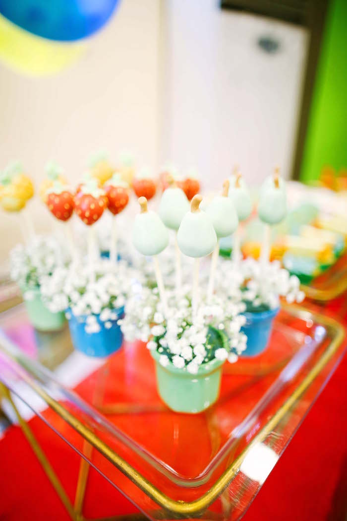 Fruit cake pops from a TWOtti Frutti Birthday Party on Kara's Party Ideas | KarasPartyIdeas.com (9)