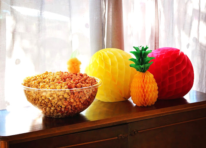Tissue decorations from a Tropical Dessert Bar on Kara's Party Ideas | KarasPartyIdeas.com (6)