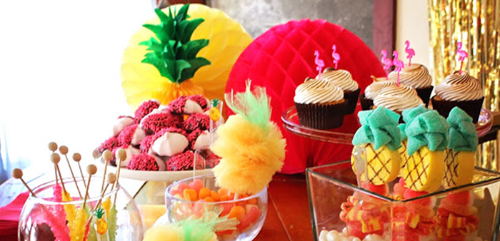 Tropical Dessert Bar on Kara's Party Ideas | KarasPartyIdeas.com (1)